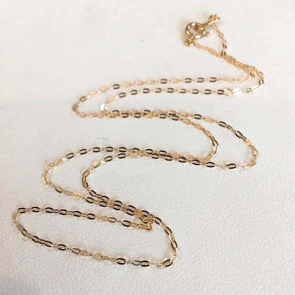 k18 あずき チェーン 華奢 ネックレス / K18 azuki necklace 40cm
