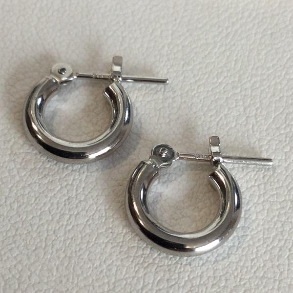 k18WG 2x10 フープピアス K18WG 2×10 hoop pierce
