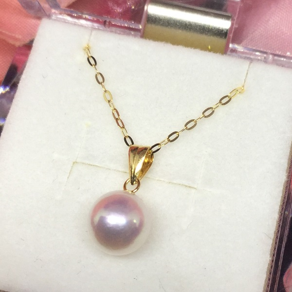 K18 アコヤ 真珠 パールネックレス / K18 7mm akoya pearl necklace 40cm