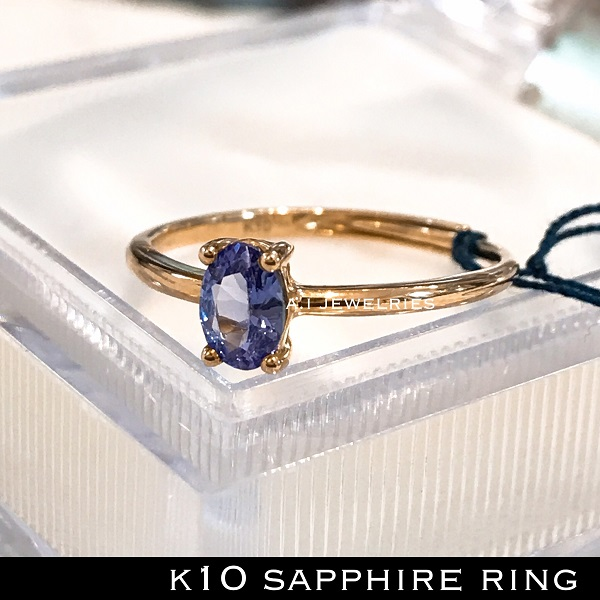 k10 10金 天然石 天然サファイア リング / k10 sapphire ring