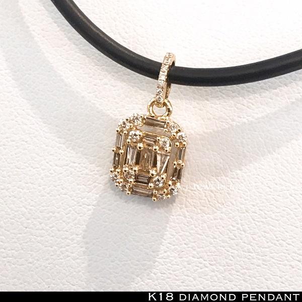 ペンダント 18金 ダイヤモンド k18 天然 ダイヤモンド ペンダント / k18 diamonds pendant