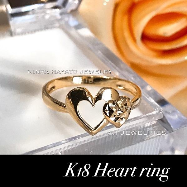 K18 18金 オープンハート リング K18 open heart ring レディース ジュエリー 新品