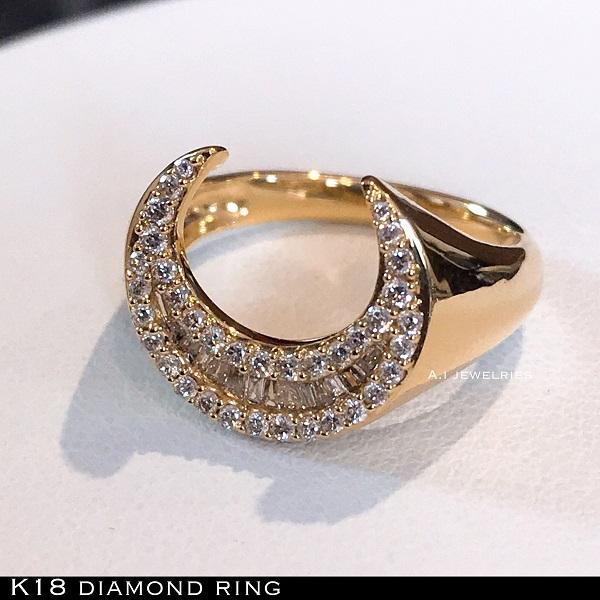 リング 18金 ダイヤ k18 天然 ダイヤモンド リング 天然石 / k18 diamonds ring