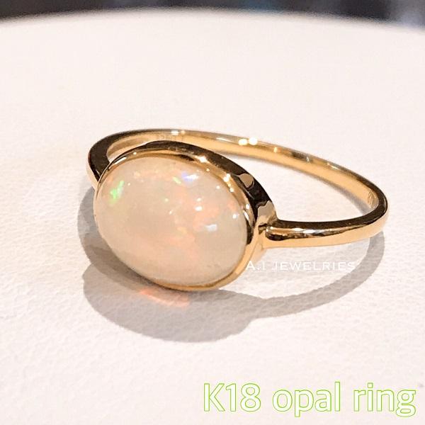リング 18金 オパール k18 天然石 オパール opal 指輪 / k18 opal ring