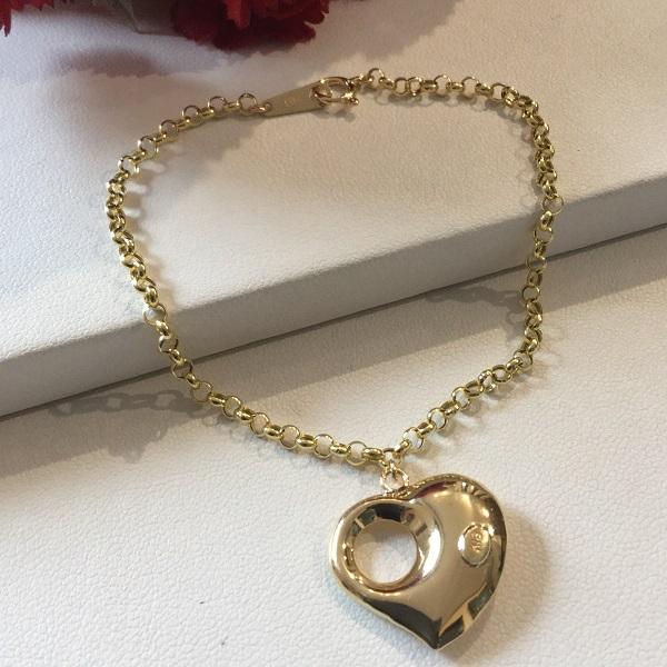 K18 ぷっくり ハート ブレスレット / K18 Pukkuri heart bracelet