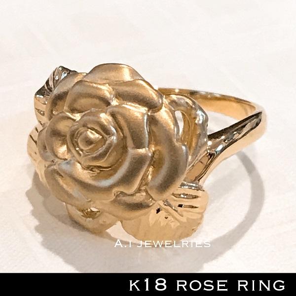 k18 18金 薔薇 ローズ ROSE リング / k18 ROSE ring