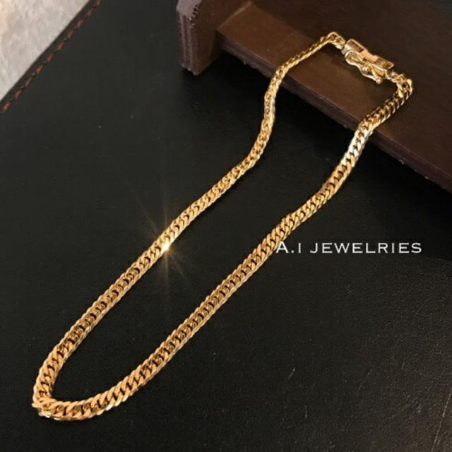 喜平 セール価格 メンズサイズ ブレスレット 6面カット 18金 k18 6面 bracelet 6cut 5g 本日限定 double ダブル 20cm メンズ