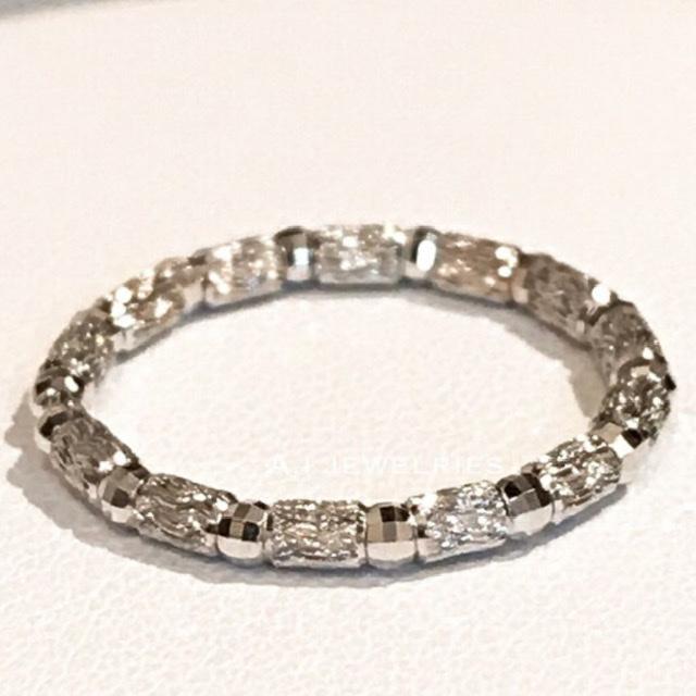 【お気にいる】 リング 18金 ホワイトゴールド k18 WG シンプル リング キラキラ / k18 WG mirror cut simple ring, U-CLUB bd26f229