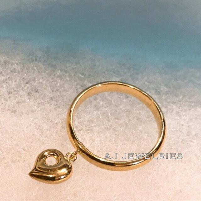 ベビーモナカデザイン ハートモチーフ リング レディースサイズ K18 かわいい ベビー モナカ 指輪 heart 受注生産品 ハート 選択 baby monaka 18金 ring