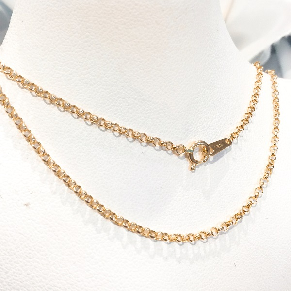 k18 18金 ロロ デザイン ネックレス 45cm K18 roro design necklace