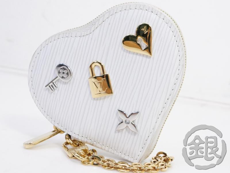 "AUTHENTIC PRE-OWNED LOUIS VUITTON LIMITED LOVE LOCK EPI BLANC PORTE-MONNAIE COEUR COIN CASE M63996 191111 ""5,000円offクーポン発行中""【中古】限定品 ルイヴィトン エピ ホワイト ラヴロック ポルトモネクール コインケース AUTHENTIC PRE-OWNED LOUIS VUITTON LIMITED LOVE LOCK EPI BLANC PORTE-MONNAIE COEUR CO"
