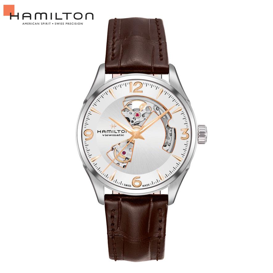 クーポン 自動巻 ハミルトン Hamilton 腕時計 メンズ ジャズマスター オープンハート H32705551