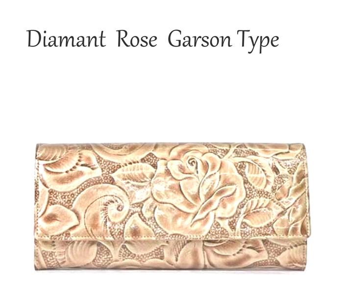 ディアマンテローズ ギャルソンタイプ日本国内の創業100年以上のタンナ-でデザイン、仕上げた高品質の皮革を使用母の日ギフト、プレゼントに最適な長財布【楽ギフ_包装選択】 あす楽対応
