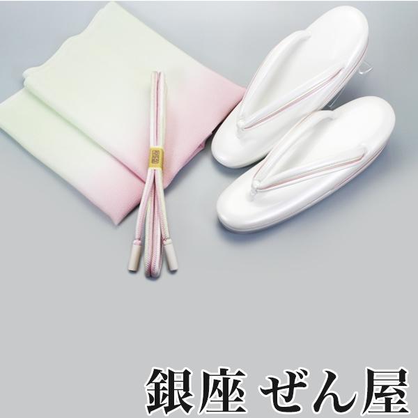 【和色誂え】桜・萌黄 (帯揚・帯締・草履の3点セット)【銀座 ぜん屋 ぜんや ゼンヤ 高級草履】