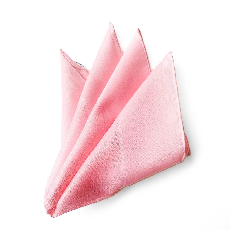 ZILLI(ジリー)ポケットチーフ メンズ コットン おしゃれ パーティー 結婚式 フランス ブランド 高級 ピンク