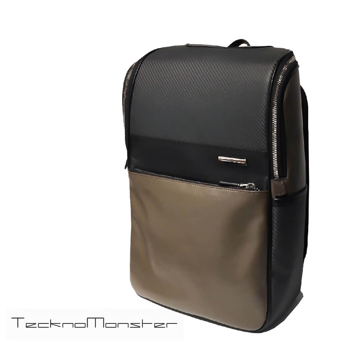 TecknoMonster (テクノモンスター)リュック バックパック メンズ レディース ブランド カーボンファイバー 軽量 モカブラウン