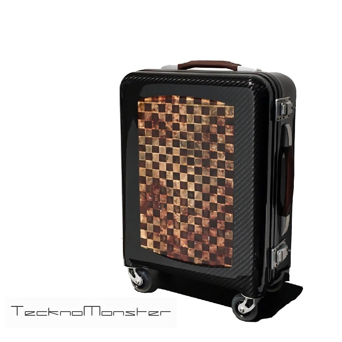 TecknoMonster(テクノモンスター)キャリーケース 機内持ち込み キャリーバッグ トローリー カーボンファイバー ハードタイプ 生木 ブランド メンズ レディース イタリア製 旅行 キャリーバッグ 高級