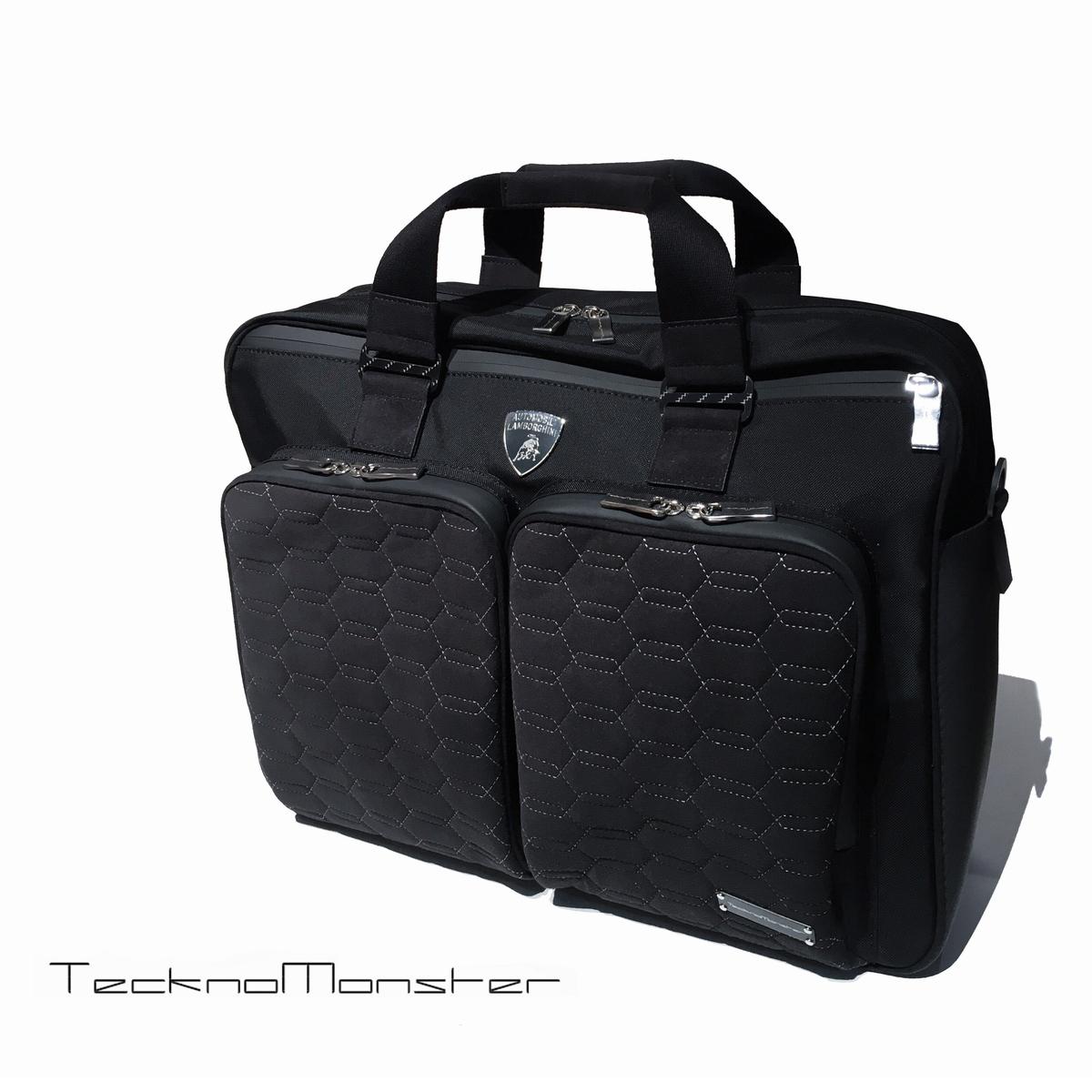 TecknoMonster (テクノモンスター)ブリーフケース ランボルギーニ Lamborghini コラボモデル ブランド メンズ レディース ソフトカーボンファイバー アルカンターラ イタリア製 ビジネスバッグ 書類鞄