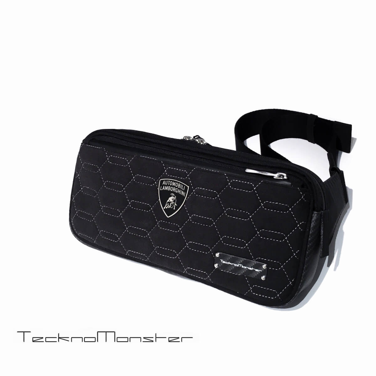 Teckno Monster (テクノモンスター)ボディバッグ ランボルギーニ Lamborghini コラボモデル ブランド ブランド メンズ レディース ソフトカーボンファイバー アルカンターラ イタリア製