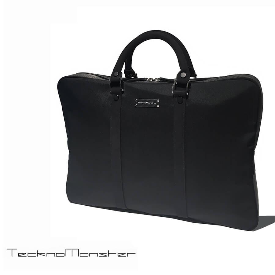 TecknoMonster (テクノモンスター)ブリーフケース ブランド メンズ レディース ソフトカーボンファイバー アルカンターラ イタリア製 ビジネスバッグ 書類鞄