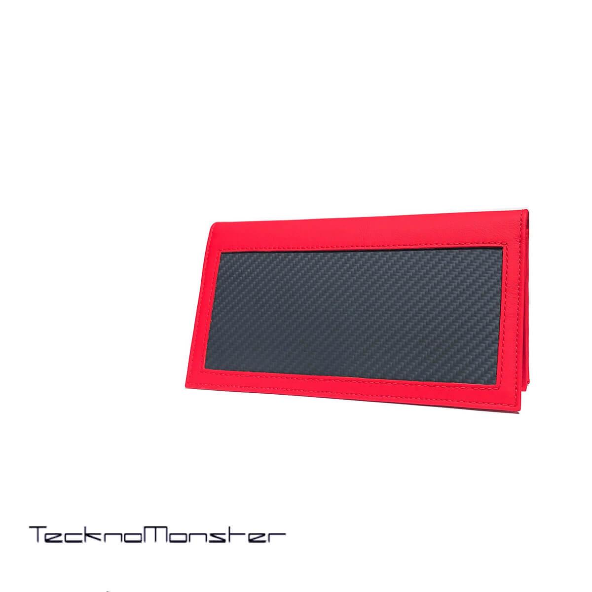 TecknoMonster (テクノモンスター)長財布 財布 札入れ  カーボンファイバー カーフレザー おしゃれ