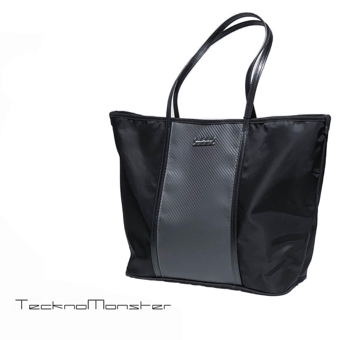 TecknoMonseter (テクノモンスター)ブラックカーペットシリーズ トートバッグ おしゃれ カーボンファイバー