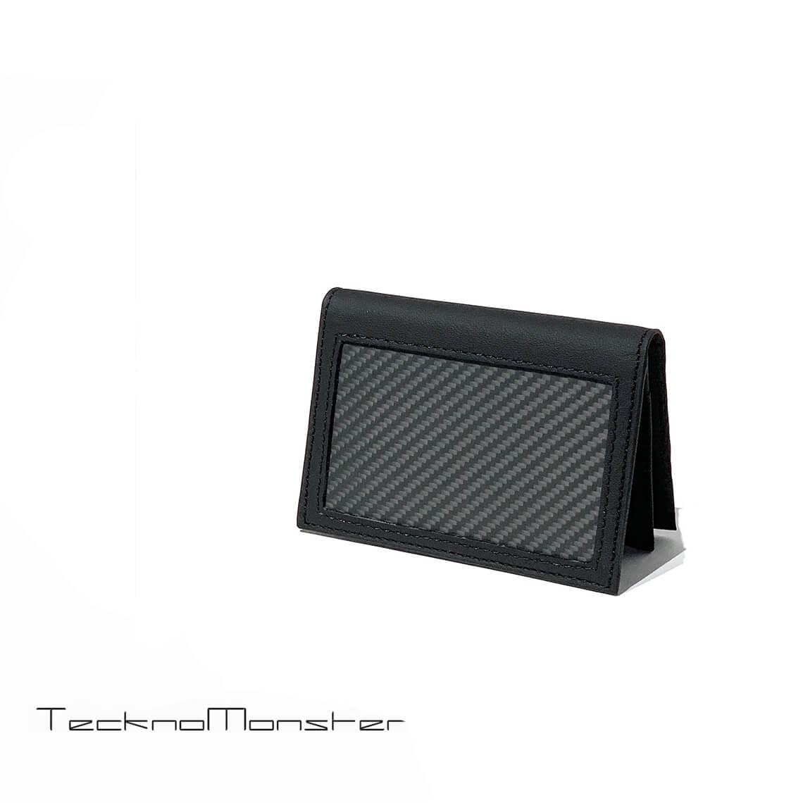 TecknoMonster (テクノモンスター)名刺入れ カードケース カーボンファイバー カーフレザー おしゃれ