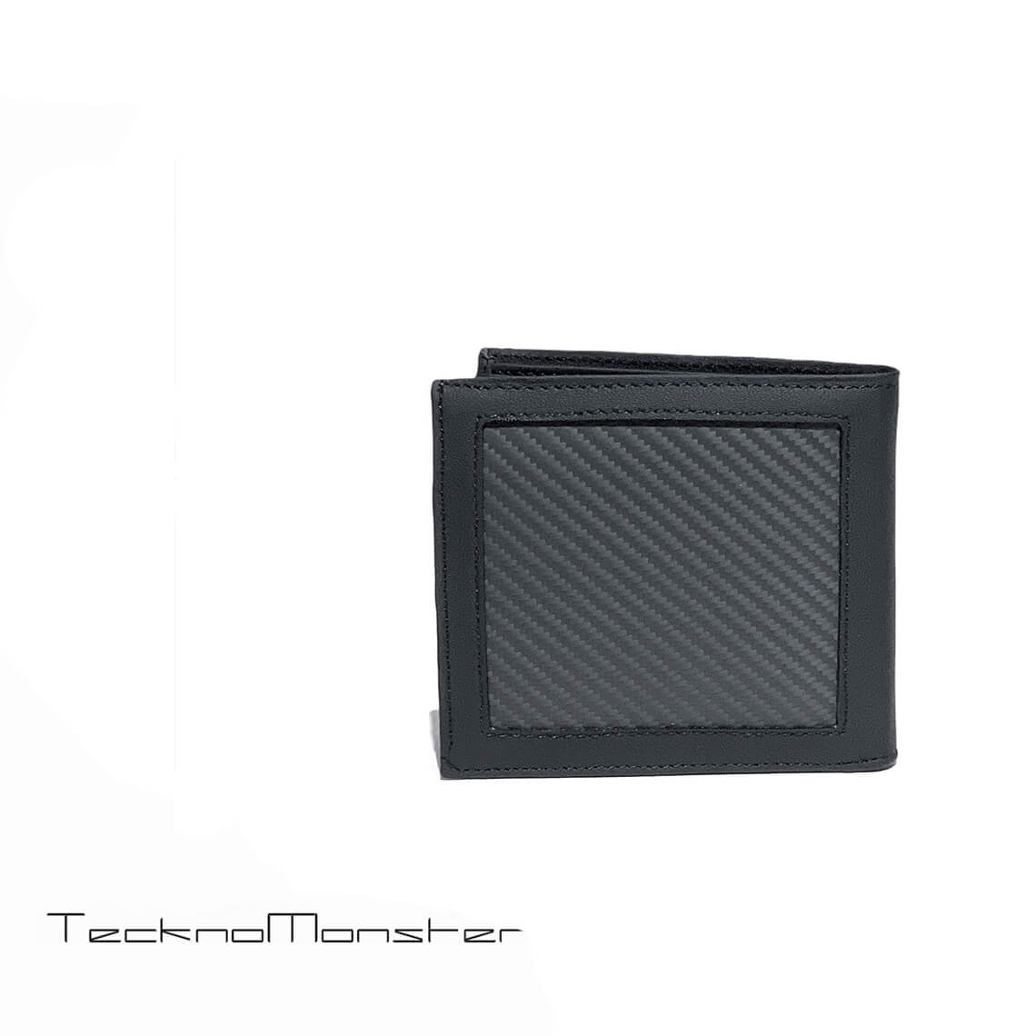 TecknoMonseter (テクノモンスター)折財布 財布 おしゃれ カーボンファイバー カーフレザー