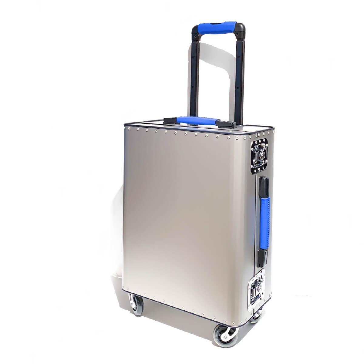 TecknoMonster (テクノモンスター)キャリーバッグ トローリー スーツケース 機内持ち込みサイズ チタン カーフレザー おしゃれ