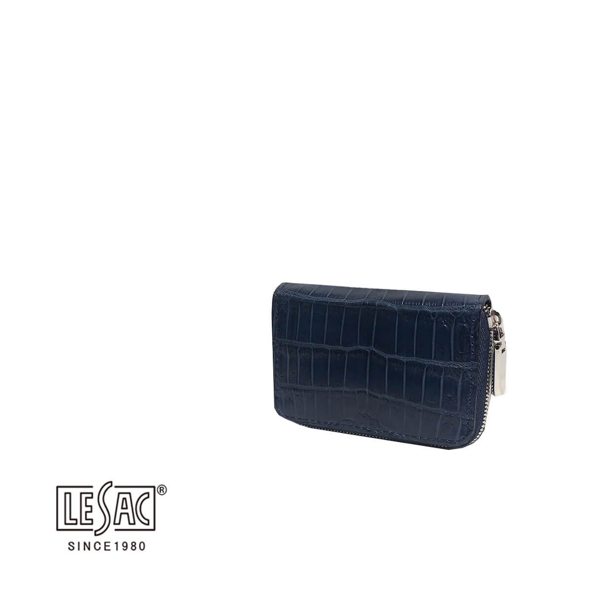 LE'SAC(レザック)小銭入れ カードケース クロコダイル ネイビー