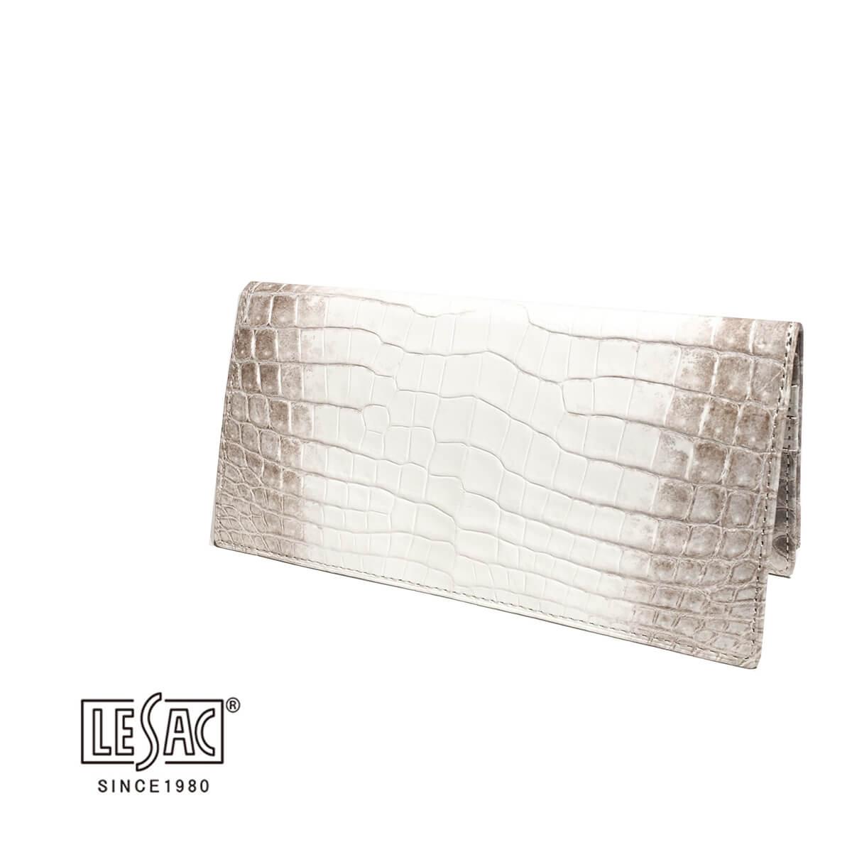 LE'SAC(レザック)レザック 長財布 札入れ ロングウォレット クロコダイル ヒマラヤクロコ ブランド