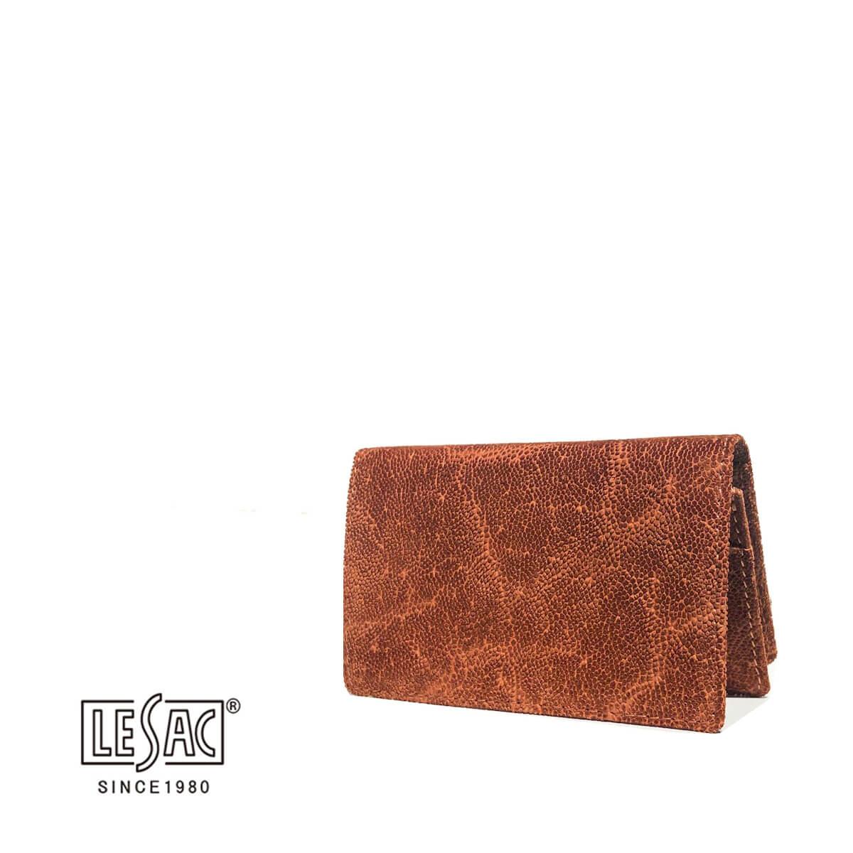 LE'SAC(レザック)レザック 名刺入れ カードケース エレファント ゾウ革 本革 一枚革 無双 ブランド