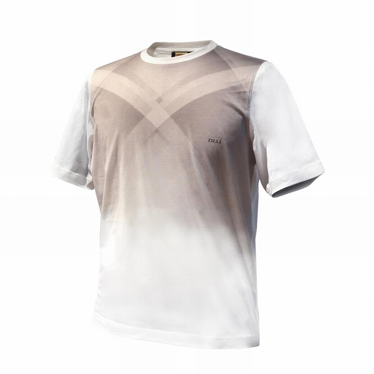 堅実な究極の ZILLI (ジリー)シャツ カットソー Tシャツ メンズ ZILLI ジリー コットン 高級 トップス 半袖, 電脳倉庫 サイバーカナモト e0420b49