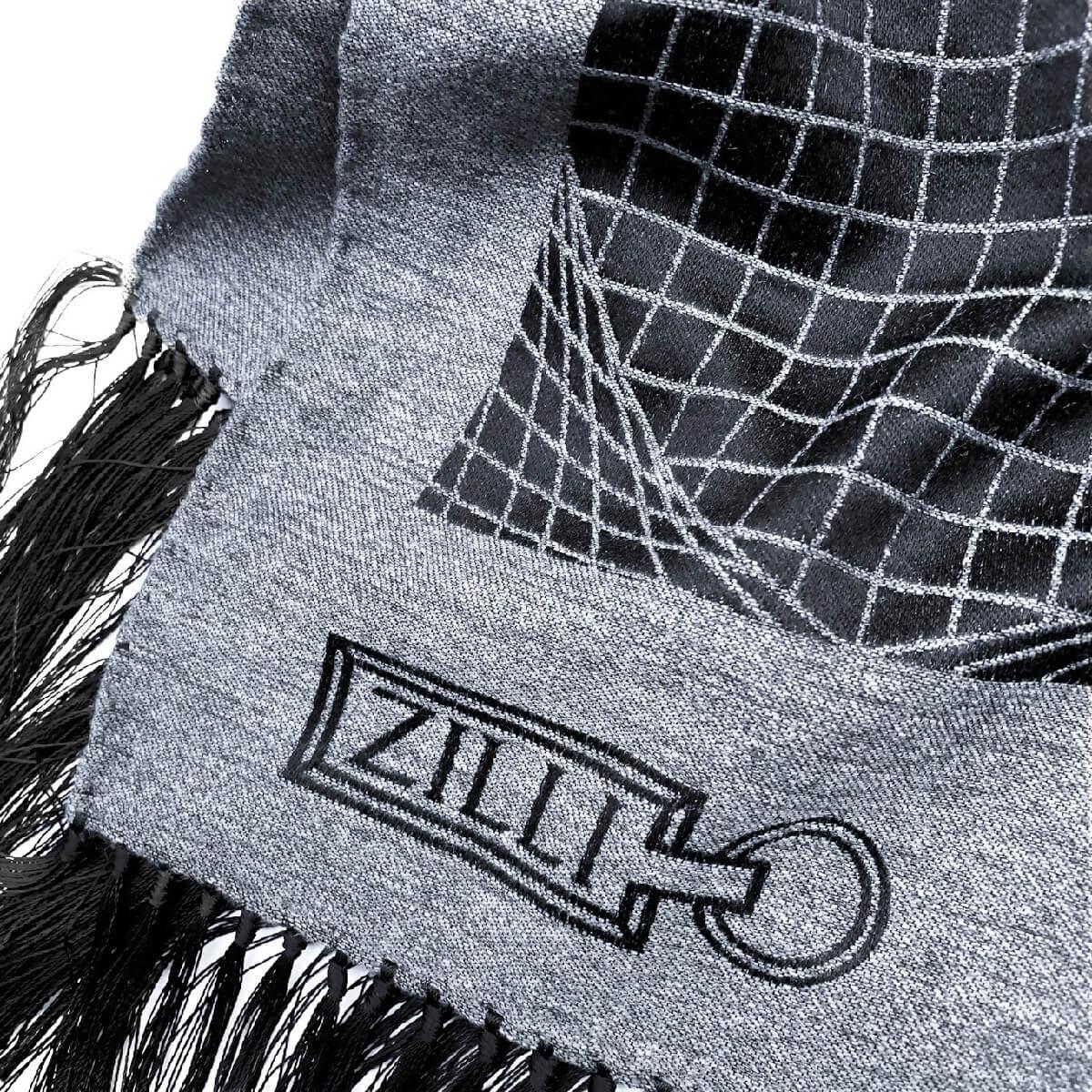 ZILLI (ジリー)マフラー メンズ レディース ブランド ZILLI ジリー シルク カシミア ブラック グレー 高級