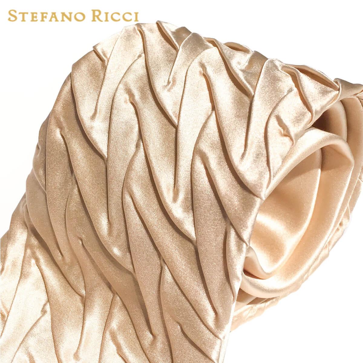 STEFANO RICCI(ステファノリッチ) ネクタイ プリーツ ベージュ プリーツタイ