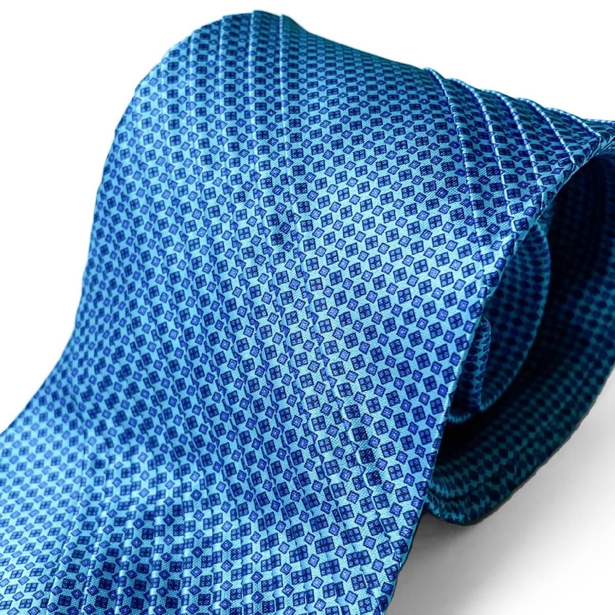 STEFANO RICCI(ステファノリッチ) ネクタイ プリーツ プリーツタイ ブルーグリーン 青緑 ステファノリッチネクタイ