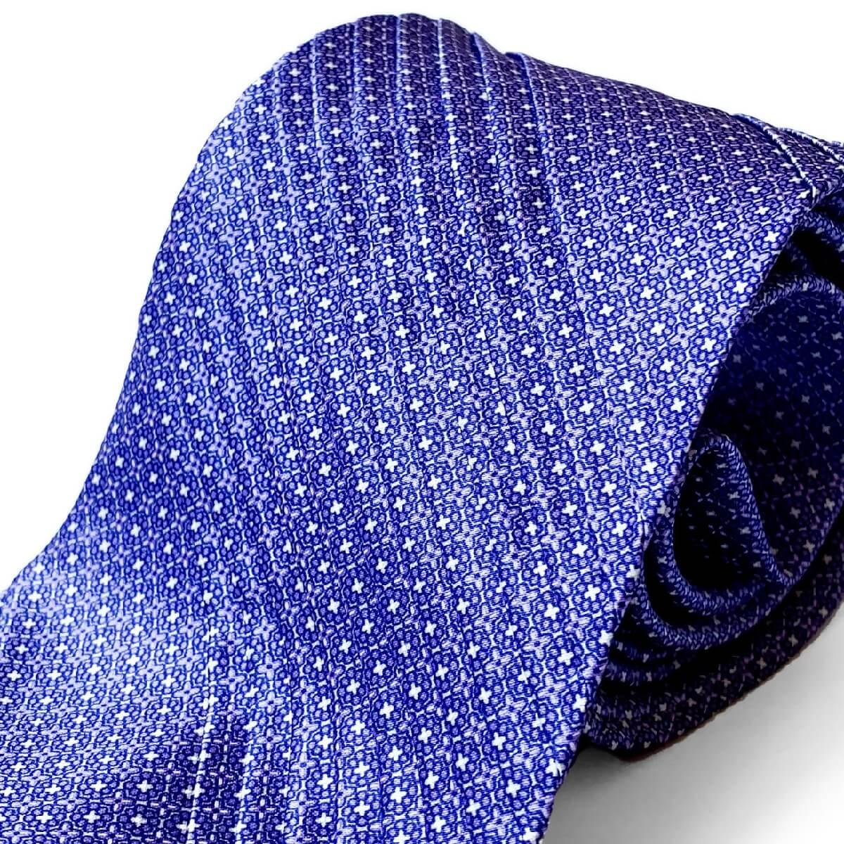 STEFANO RICCI(ステファノリッチ) プリーツタイ ネクタイ 小紋柄 パープル 紫 ステファノリッチネクタイ