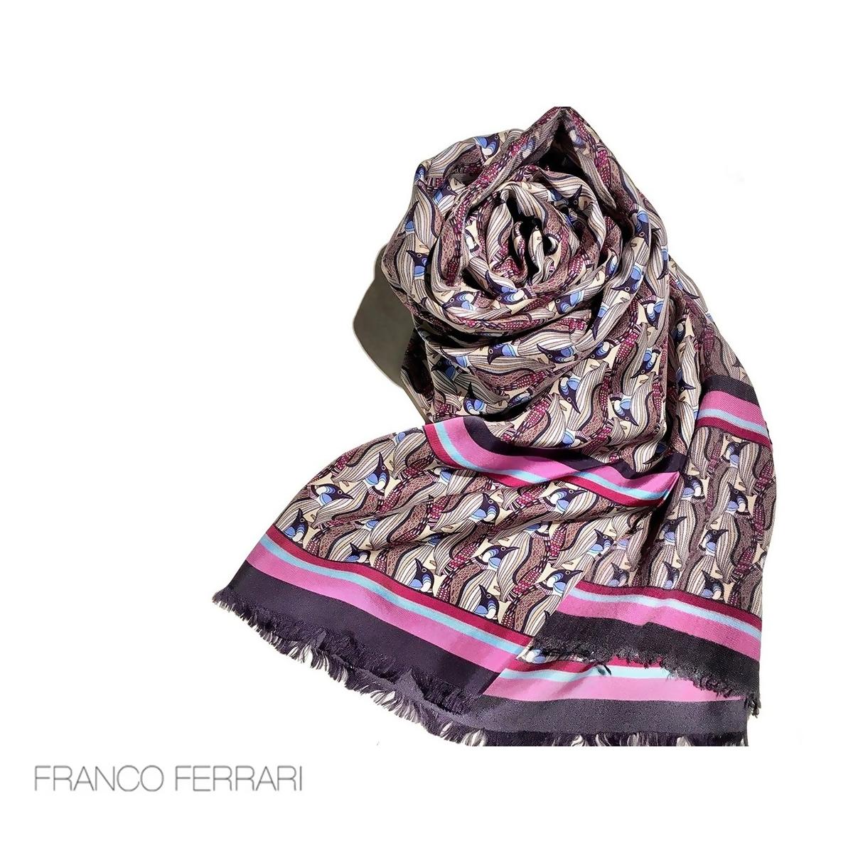 フランコフェラーリ シルクストール 袋縫い ペンギン ウール カシミヤ