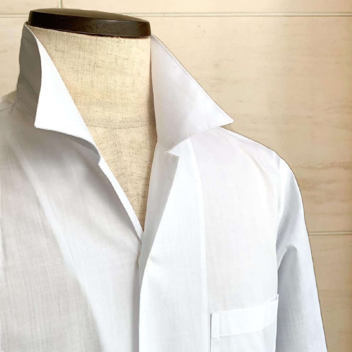 POGGIANTI1958(ポジャンティ)オープンカラーシャツ カジャアルシャツ 開襟シャツ ブランド メンズ シャツ カジュアル イタリア おしゃれ 無地 白シャツ