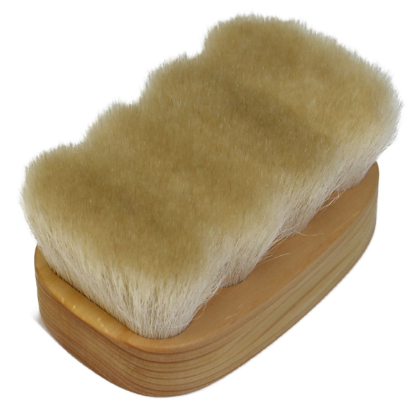 コロンブス ブートブラック Boot Black フィニッシングブラシ(靴磨き山羊毛+馬毛ブラシ)
