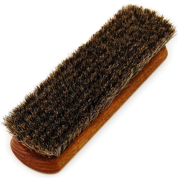 毛先が細く、柔らかい馬毛を使用していますので、表面のホコリ等の汚れ落としなどに適しています。ウブレイ プロ・ホース 馬毛ブラシ 靴磨き 馬毛ブラシ M.MOWBRAY モゥブレィ モウブレイ プロ・ホースブラシ