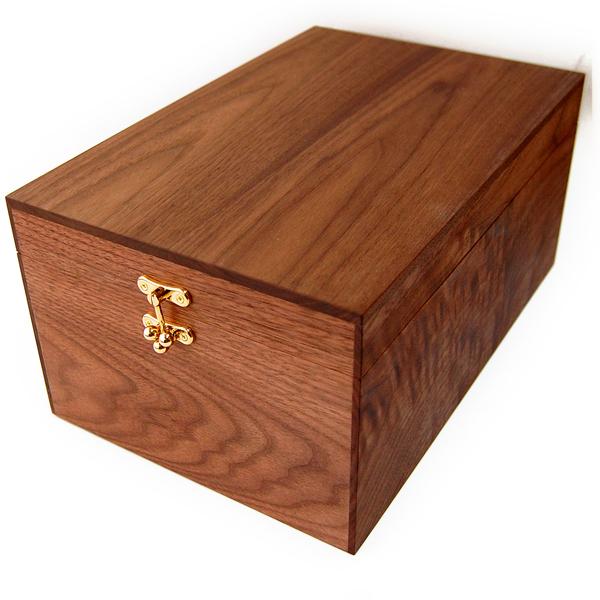 シューケアボックス 【木箱のみの単品販売】ウォールナット製 BOX(シューケア用品、靴磨きセット、シューケアセットの収納ボックス)家具職人手作り【あす楽】