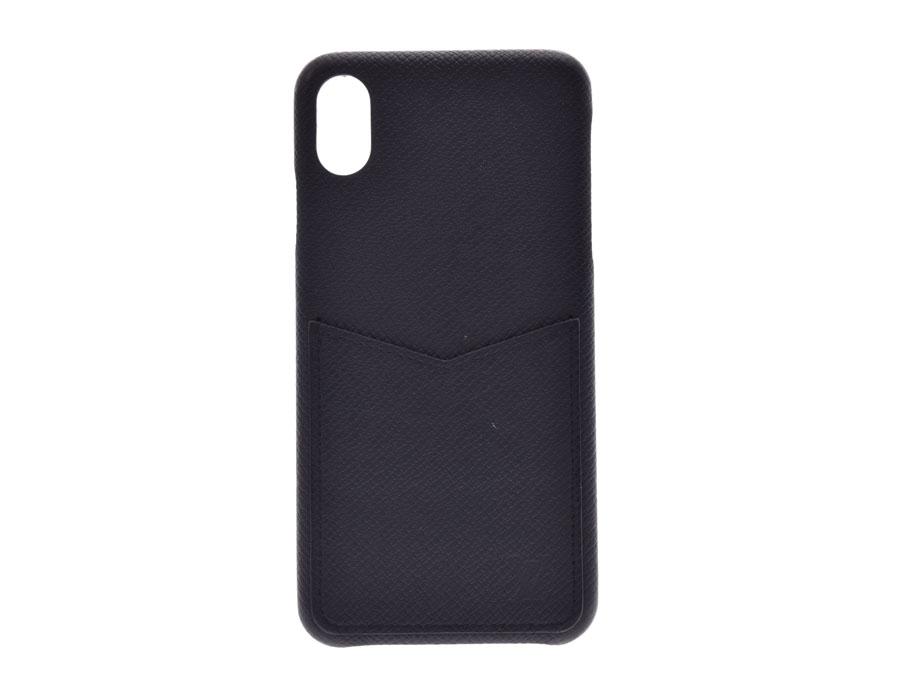 LOUIS VUITTON ルイヴィトン タイガ iPhoneバンパー XS MAX iPhoneケース 黒 M30225 メンズ レザー 携帯・スマホアクセサリー ABランク 中古 銀蔵