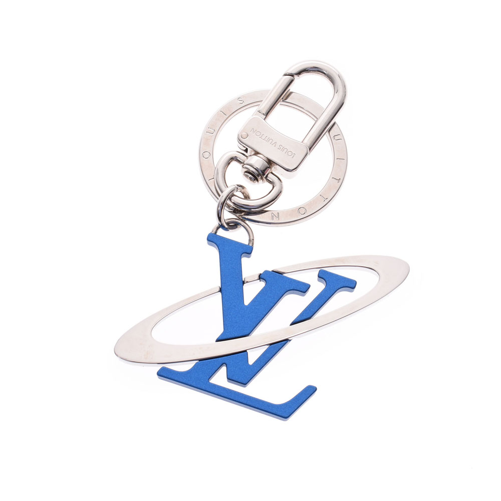 LOUIS VUITTON ルイヴィトン ポルトクレLVイニシャルコスミック ブルー シルバー金具 MP1858 ユニセックス キーホルダー Aランク 中古 銀蔵