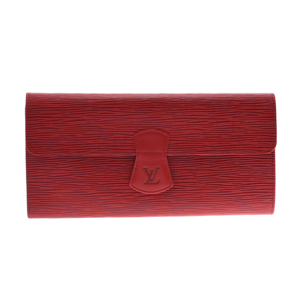 LOUIS VUITTON ルイヴィトン エピ ルーローヴィジュー ジュエリーケース 赤 M48357 レディース エピレザー ポーチ Aランク 中古 銀蔵