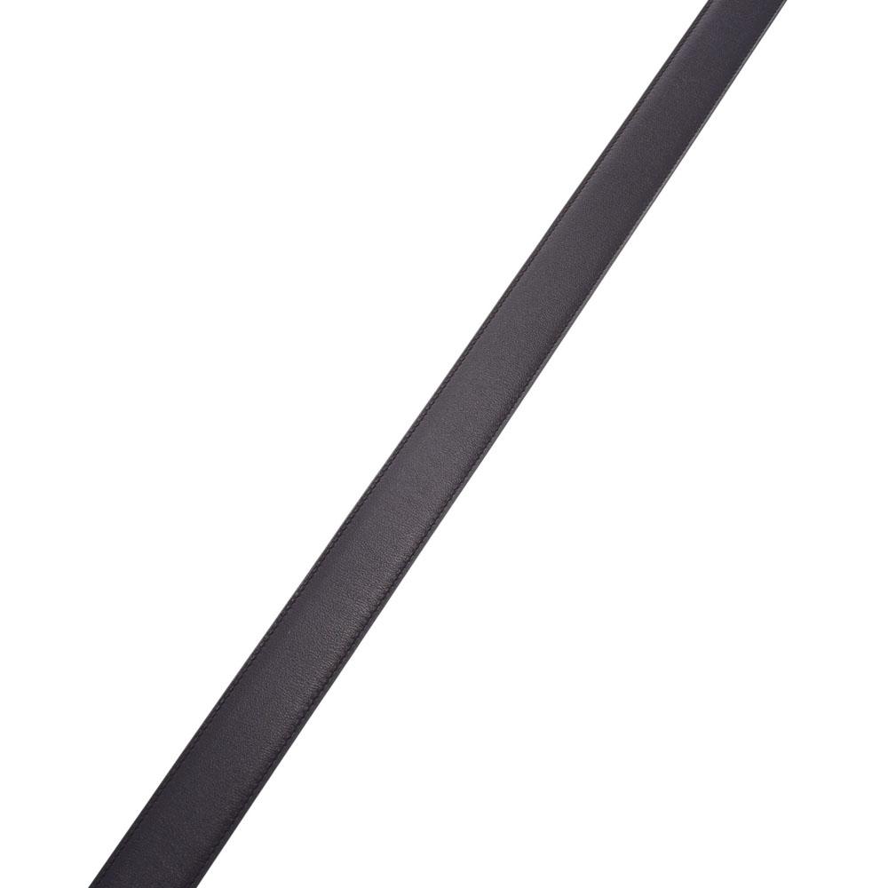 エントリーでポイント10倍 4日20時~ HERMES エルメス Hベルト 95cm リバーシブル 黒 ダークブラウン シルバー金具 C刻印 2018年頃メンズ レザー ベルト 未使用 銀蔵sQtCxBordh