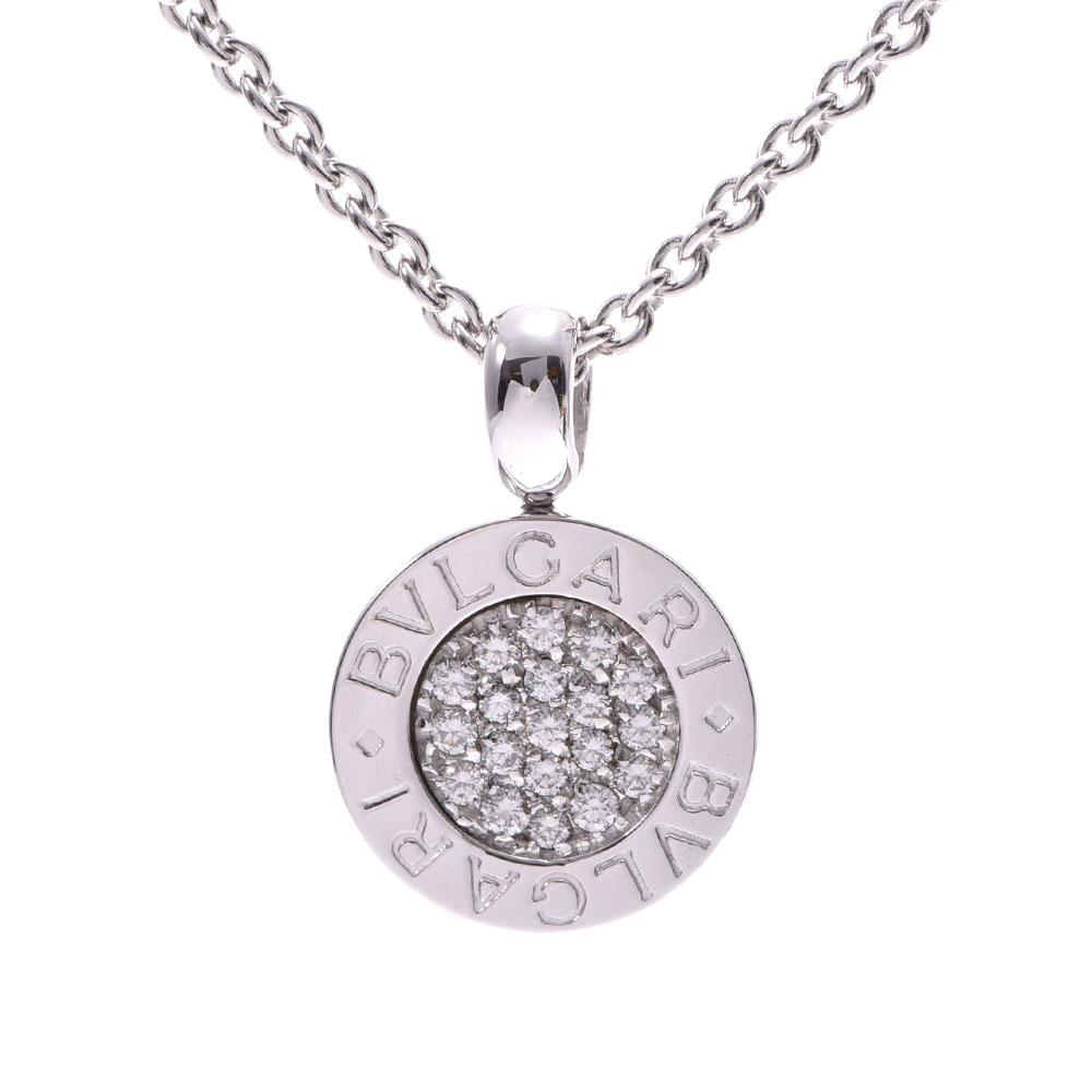 BVLGARI ブルガリ ブルガリブルガリ ユニセックス ダイヤモンド K18WG ネックレス Aランク 中古 銀蔵