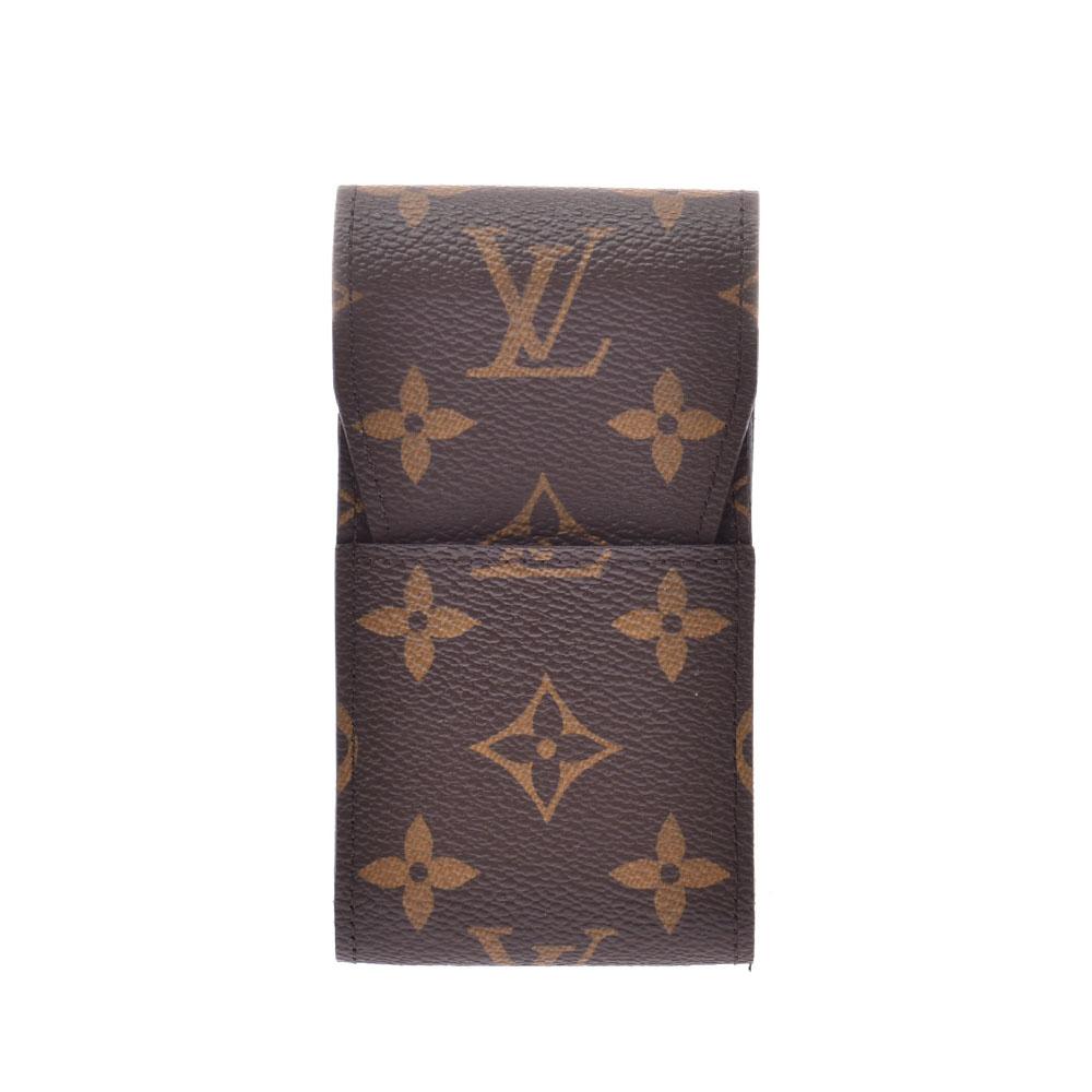 LOUIS VUITTON ルイヴィトン モノグラム シガレットケース ブラウン M63024 ユニセックス モノグラムキャンバス ブランド小物 新同 中古 銀蔵