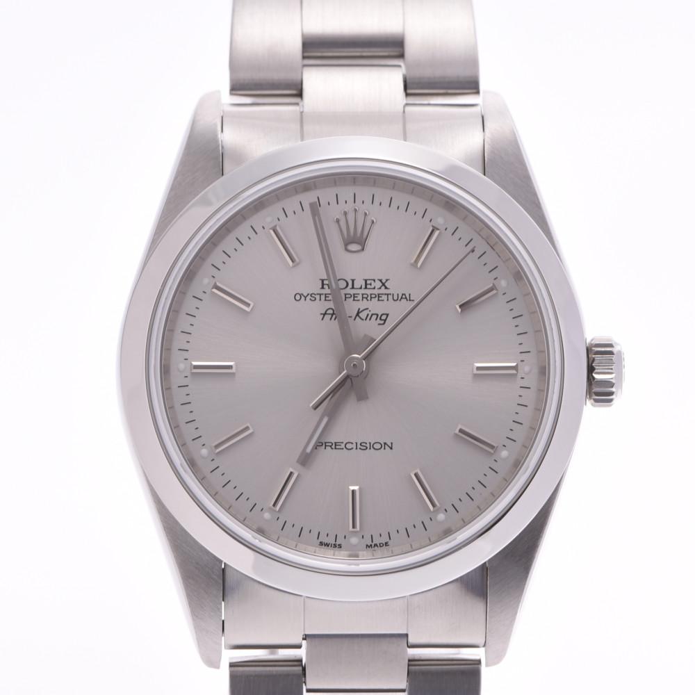 ROLEX ロレックス エアキング 14000 メンズ SS 腕時計 自動巻き シルバー文字盤 Aランク 中古 銀蔵