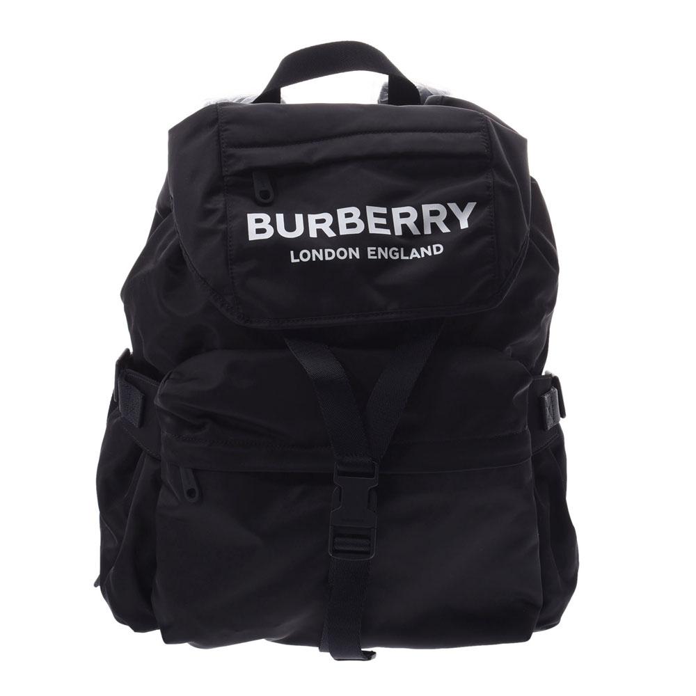 BURBERRY バーバリー バックパック 黒 8010608 LL WILFIN NYN ユニセックス ナイロン レザー リュック・デイパック 未使用 銀蔵
